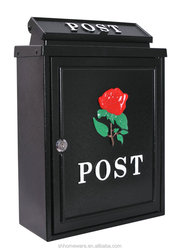 cast aluminium post box