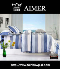 Trade Assurance Stripe and classic designs cotton 40x40/ 133x76 satin rotary pigment printed for fabric bed set /comforter