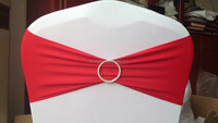 spandex chair back sash decoration with rhinestone lycra bands