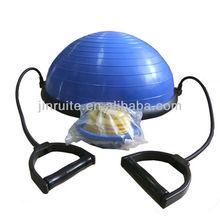 Hot - vente d'exercice BOSU ball / BOSU balance trainer avec tube élastique, Pompe livraison