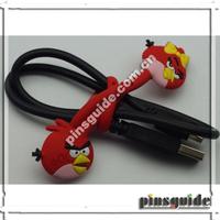 Manufacturer Custom Made Soft PVC Bird Shape Earphone Cable Winder