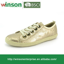 Hot italian style shine casual canvas shoes for ladies/girls casual women shoes