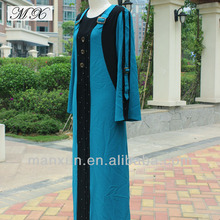 Blue&Black Muslim dress 2012 Muslim Prayer Accessories