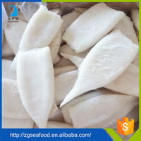 Whole nature BRC seafood frozen whole cleaned loligo squid tube and tentacle