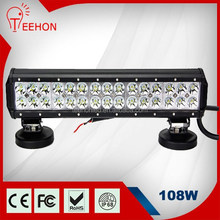 108W Epistar double rows adjustable LED BAR OFFROAD COMBO(SPOT&FLOOD) WORK LIGHT 4WD 126W/180W 17inch