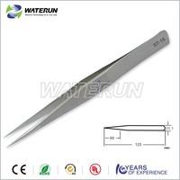 stainless steel slant tweezers, smd tweezers