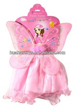 2014 New Fashion Pink Girls Fairy Wings Dresses For party