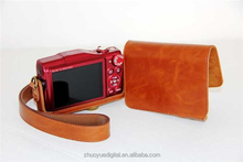 100% factory price leather camera case for Canon SX700