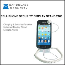 3M Adhesive Or Screw smartphone and mobile phone security display stand with alarm in retail stores