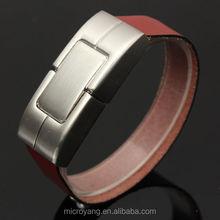 4-32G USB 2.0 Bracelet Wristband Leather Memory Stick Flash Pen Drive