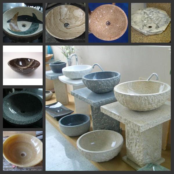 Round Chinese Natural Red Granite Kitchen /bathroom Sink