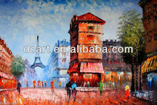 New Style Paris Street Oil Painting With The Superior Quality