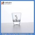 longrun vaisselle en verre shot verre machine unique en forme avec le logo du client d'impression