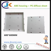 2015 china supplier best quality round and square 600x600 plastic led panel light housing parts / led ceiling light housing