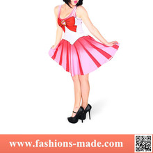 2015 Womens One Piece pink pleated dress Sailor Moon Cosplay wholesale