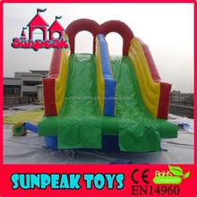 WL-1839 Sunpeak Factory Supply Design Fire Truck Inflatable Water Slide