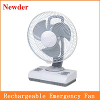 "12"" AC DC rechargeable solar powered portable oscillating fan MODEL 296"