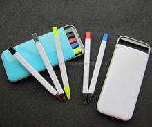 5 pcs pencil pen highlighter set