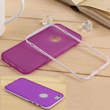 New 2014 New for iphone 6 4.7 inches transparent colorful case Ultrathin double color Frame + shell mobile phone back cover case