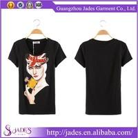 2015 Popular and famous guangzhou fashion tshirt manufacturer