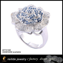 925 sterling silver antique ring DF72168 micro pave setting 925 sterling silver jewelry