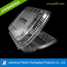 Alibaba China clear plastic disposable bento lunch box with 3 compartment