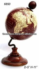 Plastic Globe with Wooden Base, Office Accessories, Unique World Globes
