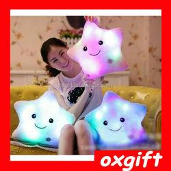 OXGIFT LED pillow/led light up pillow/colorful shining led light pillow