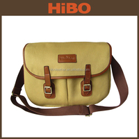 Hot selling Canvas and Real Leather Fishing tackle Bag