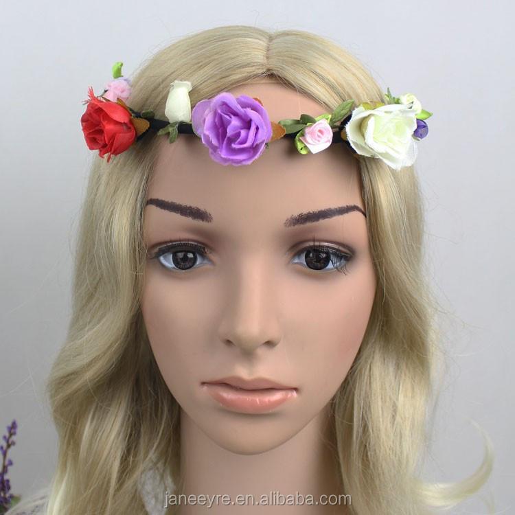 Wholesale Fashionable Design Artificial Flower Head Wreath