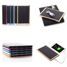 50000mAh Dual USB Solar Panel Power Bank External Battery Charger For Phone Pad