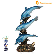 three dolphins model resin dolphins for home decoration