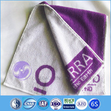 china supplier yarn dyed jacquard terry cotton hand towel