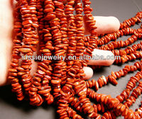 Red jasper - 8 mm rounded nugget - chip stone
