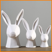Zakka wind factory direct white ceramic bunny gifts ornaments ornaments ornaments desk study