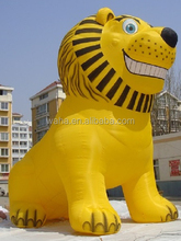 Customization!!! 8ft standing fixing inflatable lion/animal/cartoon/yellow/8m/for marketing advertisment W610
