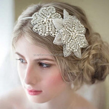 Fairy Girls Princess Hair Accessories Crystal And Rhinestone Appliqued Flower Hairband Bridal Head Band For Dresses