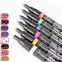 2015 HOT designs nail painting pen / uv gel nail polish pen / nail art pen kits