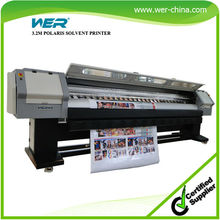 CE ISO approvef high quality WER-SP3204 print heads 3.2m solvent printer for outdoor use