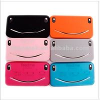 Smile face feed me silicone case for iphone 4 4s, for iphone 4s case cover,for iphone case 4s 5s 6 silicone