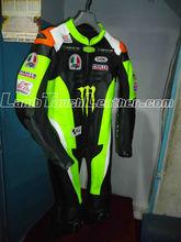 Monster Motorbike Racing Leather Suit in Cow Hide Moto Racing Suit