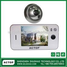 househould home 3.5inch digital door viwer door bell automatically take photo