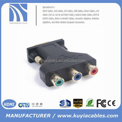 15pin male vga to 3 rca female splitter adapter for pc monitor projector