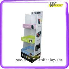 3 Tiers Cardboard Display Rack For IPAD Case Bags Customize Paper Shelft