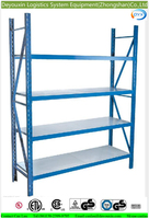 Alibaba China supplier laminate rack with metal shelf brackets and plywood for warehouse racking by rack