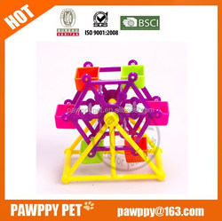 colorful windmill parrot toys for birds&parrots