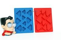 100% food grade silicone Red Superhero design mini ice cube tray