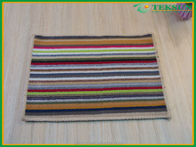 new product cheap large area carpet rainbow stripes flooring custom logo printed