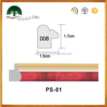 High-quality polystyrene PS decorative baseboard moulding line/duable ps photo picture frame
