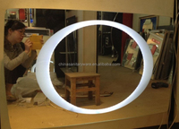 Latest hotel lighted wall frame mirror for sale
